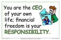 You Are The CEO Of Your Own Life; Financial Freedom is Your Responsibility