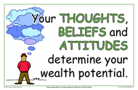 Your Thoughts, Beliefs and Attitudes Determine Your Wealth Potential