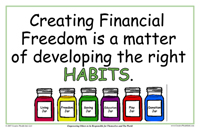 Creating Financial Freedom is a Matter of developing the right habits