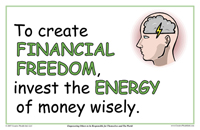To Create Financial Freedom, Invest The Energy Of Money Wisely