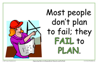 Most People Don't Plan To Fail; They Fail To Plan