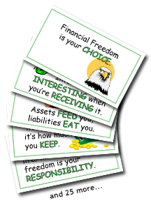financial principle cards